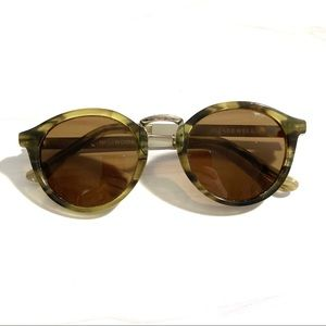 Madewell Indio Sunglasses in Olive Horn
